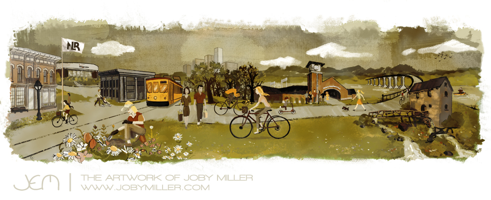 City of North Little Rock Illustration - Joby Miller
