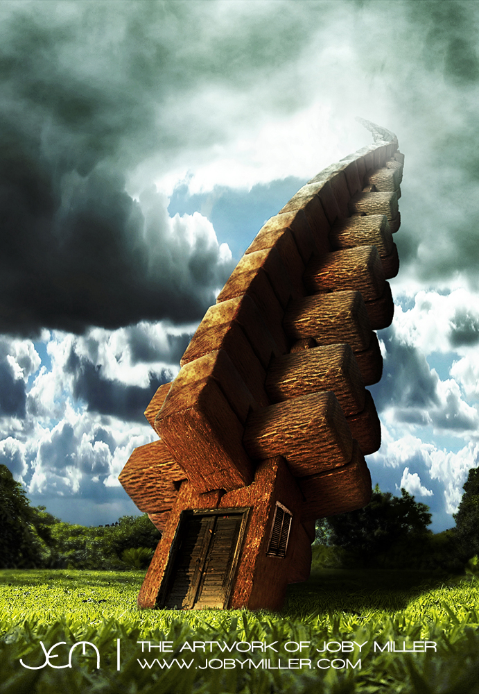 Reticulated Wooden Sky Tower_Photoshop_Illustration_JobyMiller