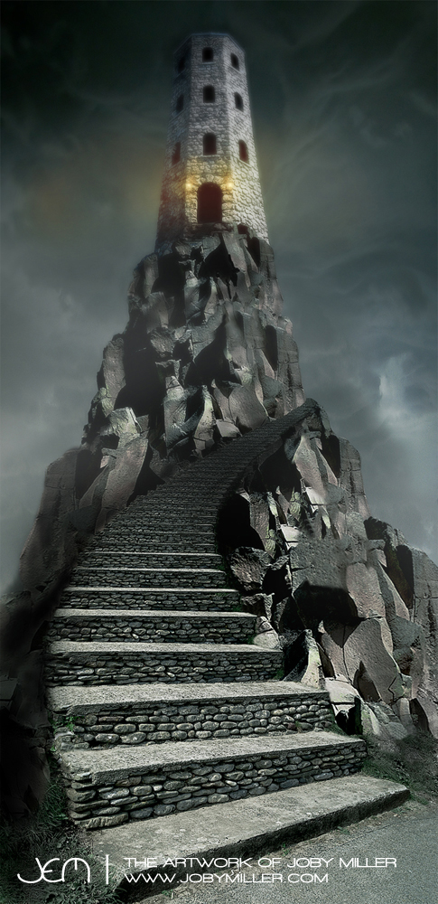 Tower of Negation_Photoshop_Illustration_JobyMiller