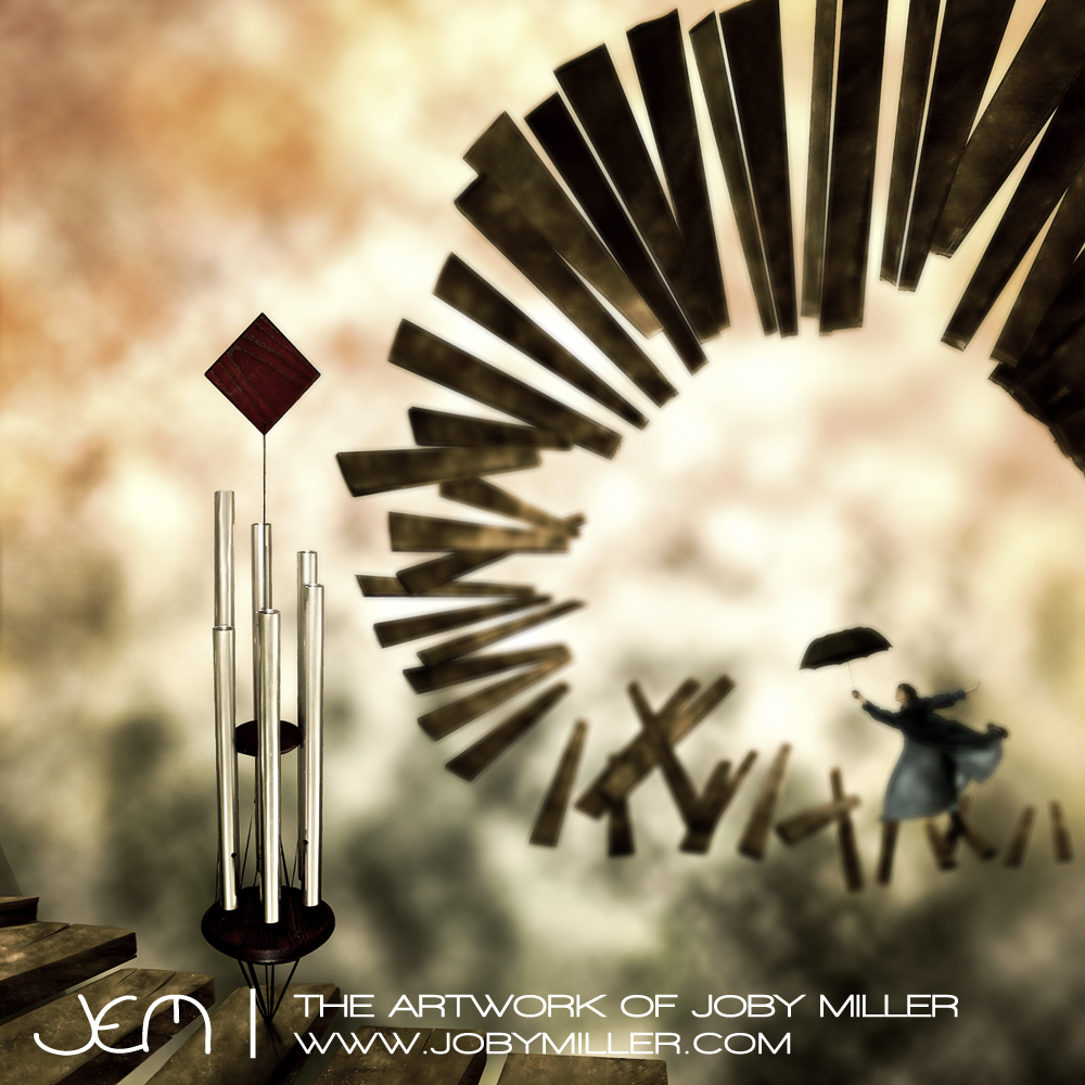 Windchimes - Photoshop Illustration - Joby Miller