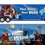 AFT Campaign Bus wrap