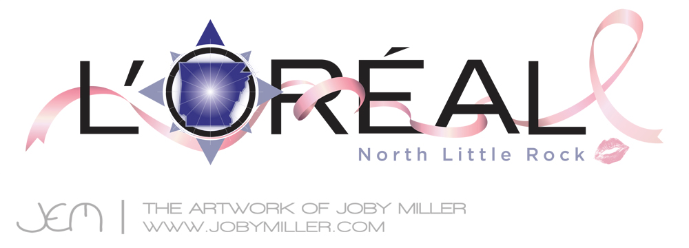Loreal Cancer Ribbon Ad - Joby Miller