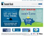 Summit Bank Web Layout | The Artwork of Joby Miller